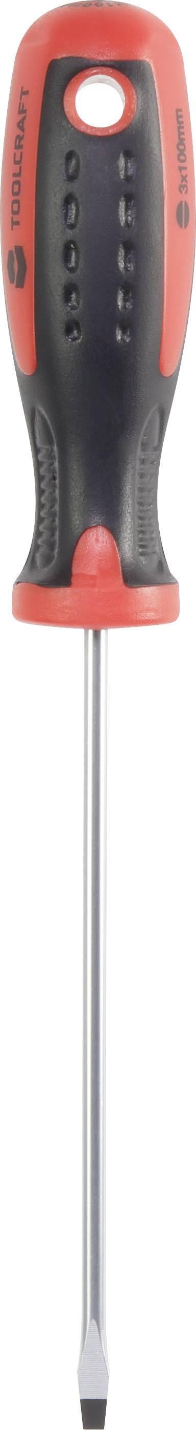 Plochý skrutkovač TOOLCRAFT 96029C1104, 3 mm, 102 mm