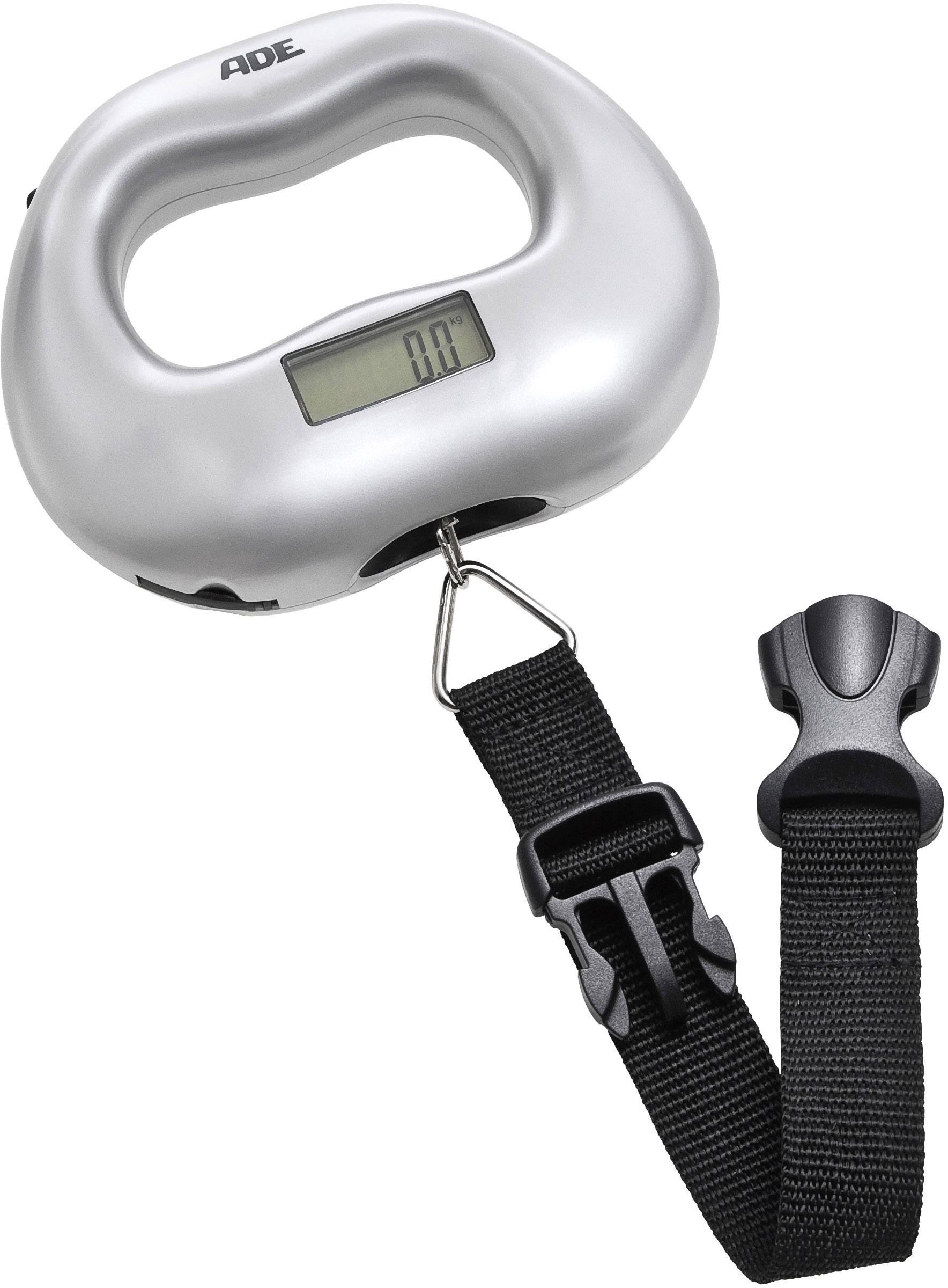Váha na cestovní zavazdla ADE KW 901 Maxi, max. váživost 55 kg, rozlišení 100 g, stříbrnočerná