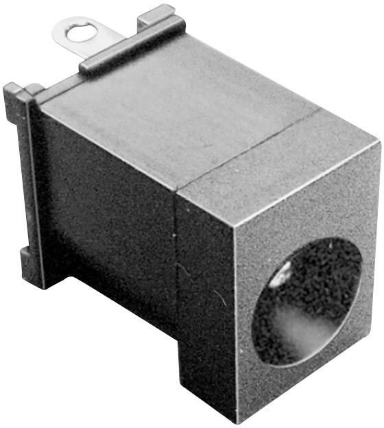 Nízkonapěťový konektor BKL Electronic 072773, zásuvka, vestavná vertikální, 6.3 mm, 2.5 mm, 1 ks