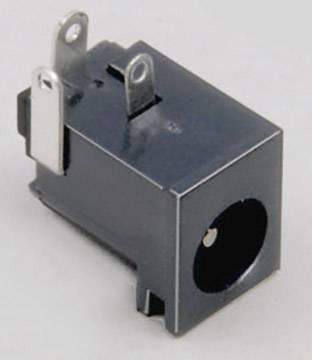 Nízkonapěťový konektor BKL Electronic 072761, zásuvka, vestavná horizontální, 6.3 mm, 2.5 mm, 1 ks