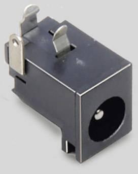 Nízkonapěťový konektor BKL Electronic 072762, zásuvka, vestavná horizontální, 6.3 mm, 2.1 mm, 1 ks