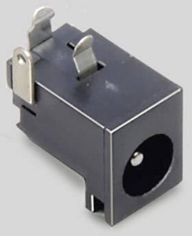 Nízkonapěťový konektor BKL Electronic 072763, zásuvka, vestavná horizontální, 6.3 mm, 2.5 mm, 1 ks