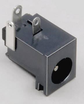 Nízkonapěťový konektor BKL Electronic 072759, zásuvka, vestavná horizontální, 6.3 mm, 2.1 mm, 1 ks