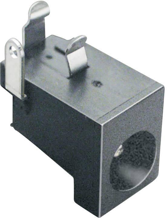 Nízkonapěťový konektor BKL Electronic 072740, zásuvka, vestavná horizontální, 6.3 mm, 2.1 mm, 1 ks