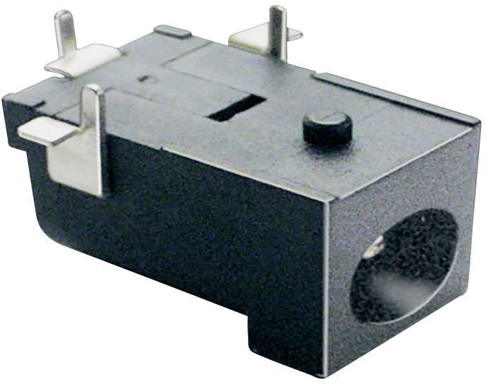 Nízkonapěťový konektor BKL Electronic 072750, zásuvka, vestavná horizontální, 6.3 mm, 2.1 mm, 1 ks