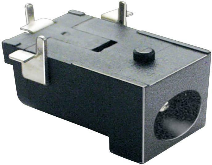 Nízkonapěťový konektor BKL Electronic 072751, zásuvka, vestavná horizontální, 6.3 mm, 2.5 mm, 1 ks