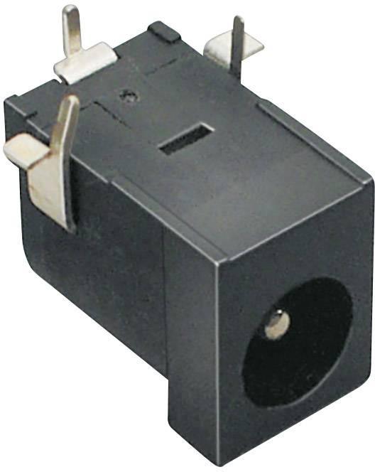Nízkonapěťový konektor BKL Electronic 072753, zásuvka, vestavná horizontální, 6.3 mm, 2.5 mm, 1 ks