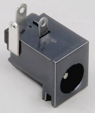 Nízkonapěťový konektor BKL Electronic 072754, zásuvka, vestavná horizontální, 6.3 mm, 2.1 mm, 1 ks