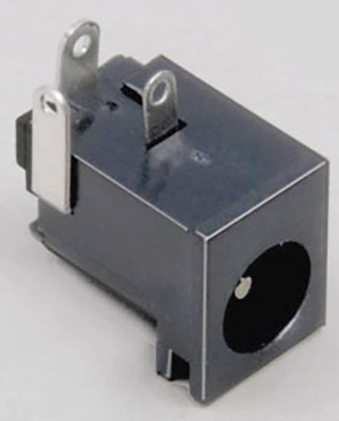 Nízkonapěťový konektor BKL Electronic 072755, zásuvka, vestavná horizontální, 6.3 mm, 2.1 mm, 1 ks