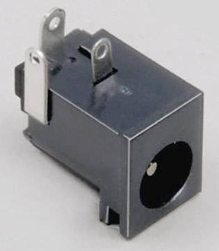 Nízkonapěťový konektor BKL Electronic 072756, zásuvka, vestavná horizontální, 6.3 mm, 2.5 mm, 1 ks