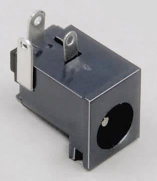 Nízkonapěťový konektor BKL Electronic 072757, zásuvka, vestavná horizontální, 6.3 mm, 2.5 mm, 1 ks