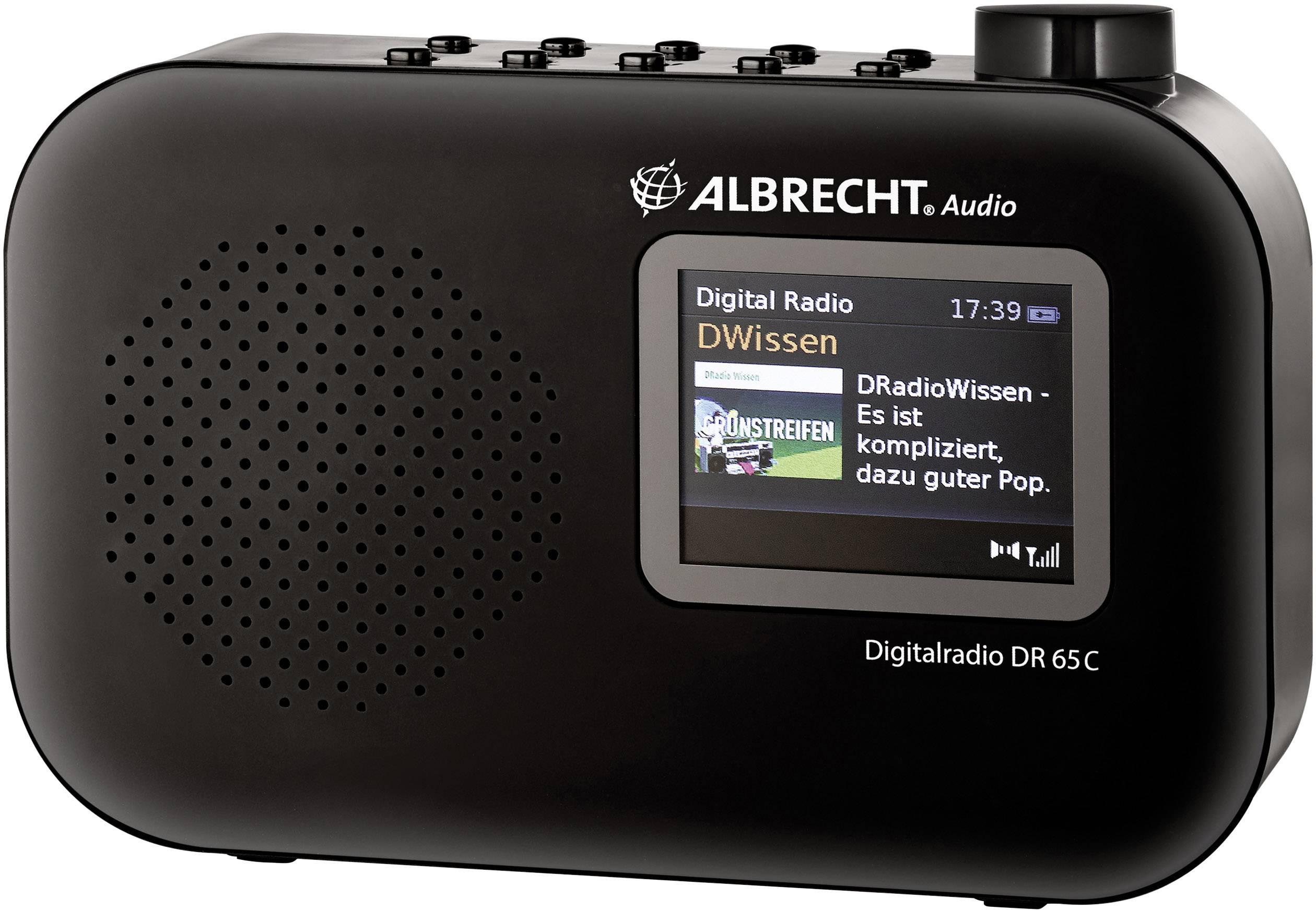 DAB+ prenosné rádio Albrecht DR 65 C, DAB+, UKW, čierna