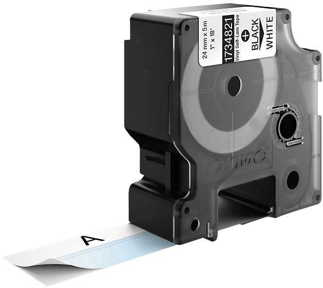 Samolaminovací páska do štítkovače DYMO 1734821, 24 mm, 5.5 m, černá, bílá