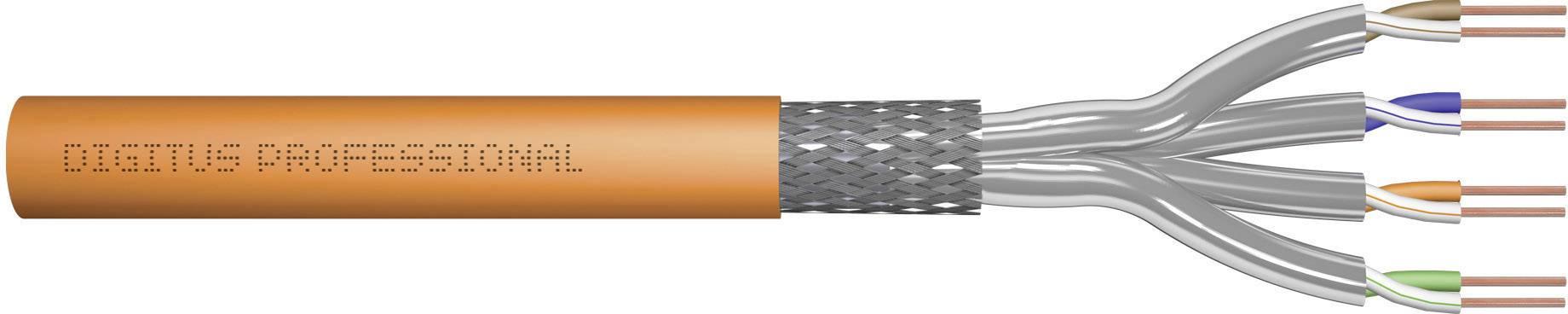 Ethernetový síťový kabel CAT 7 Digitus Professional DK-1743-VH-10, S/FTP, 4 x 2 x 0.25 mm², oranžová, 1000 m