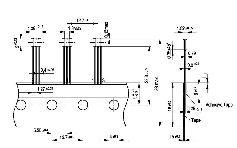 IO Hallova sonda Infineon TLE 4935 L, 3,5-24 V, PSSO 3-2