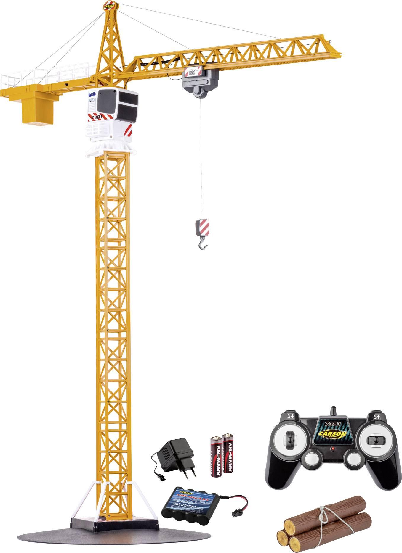 RC model jeřábu Carson Modellsport Tower Crane, 1:20, vč. akumulátorů, nabíječky a baterie ovladače