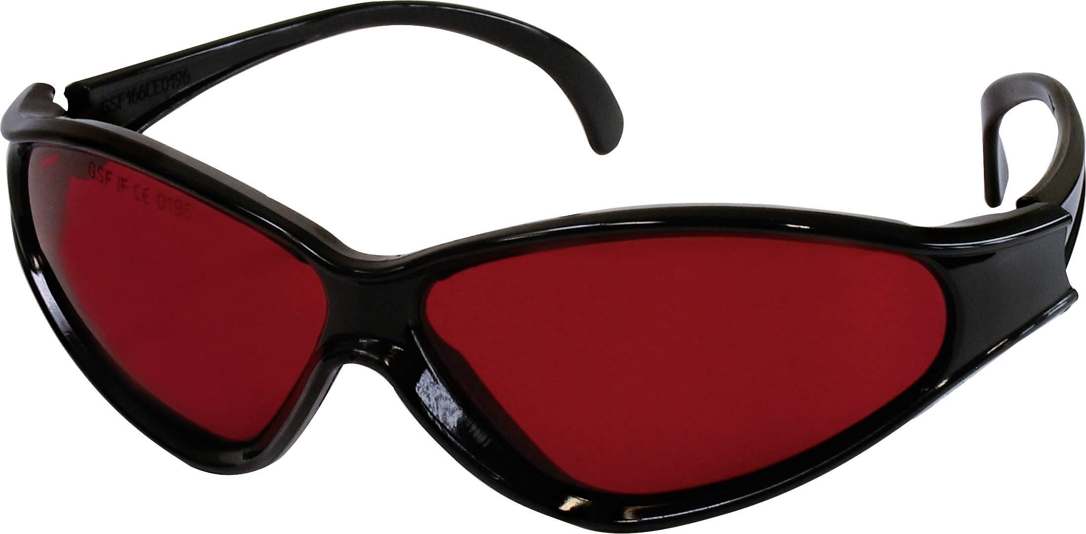 Brýle pro práci s laserem TOOLCRAFT 1010197, červená