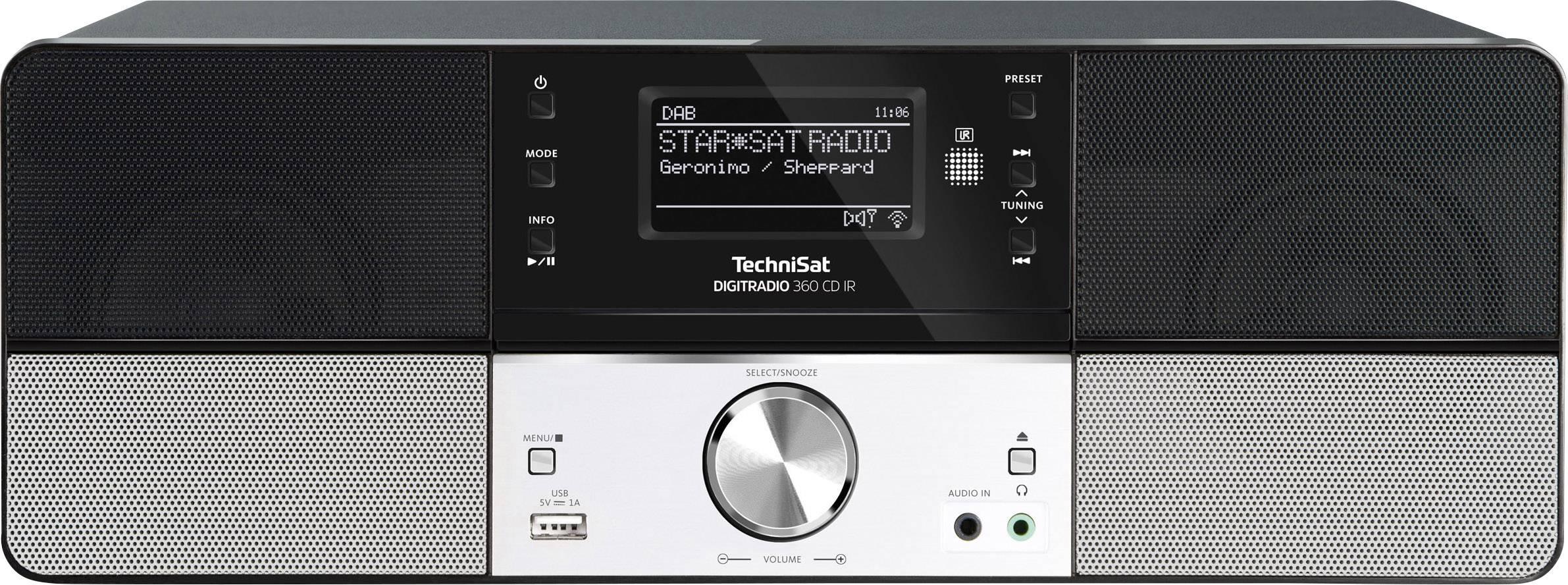 Internetové, DAB+, FM stolné rádio s CD TechniSat DIGITRADIO 360 CD IR, Wi-Fi, čierna