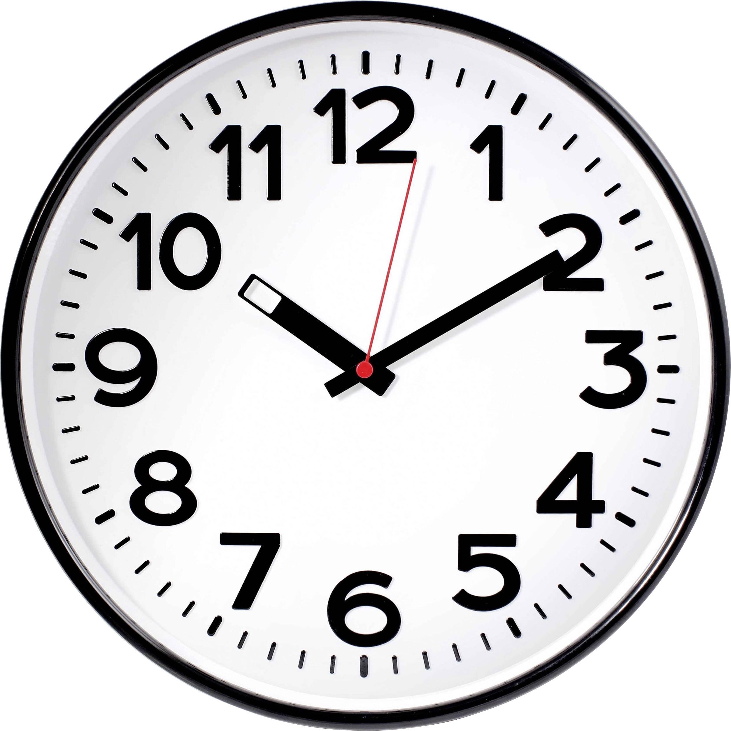 Quartz nástěnné hodiny EUROTIME 82320, vnější Ø 300 mm, černá