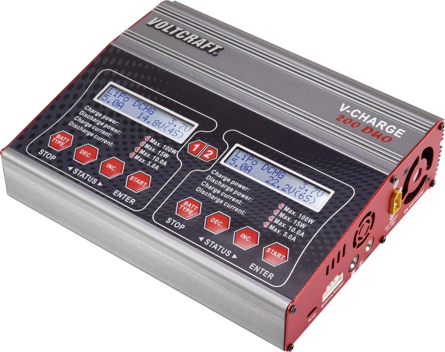 Modelářská multifunkční nabíječka VOLTCRAFT V-Charge 200 Duo 12 V, 230 V, 10 A