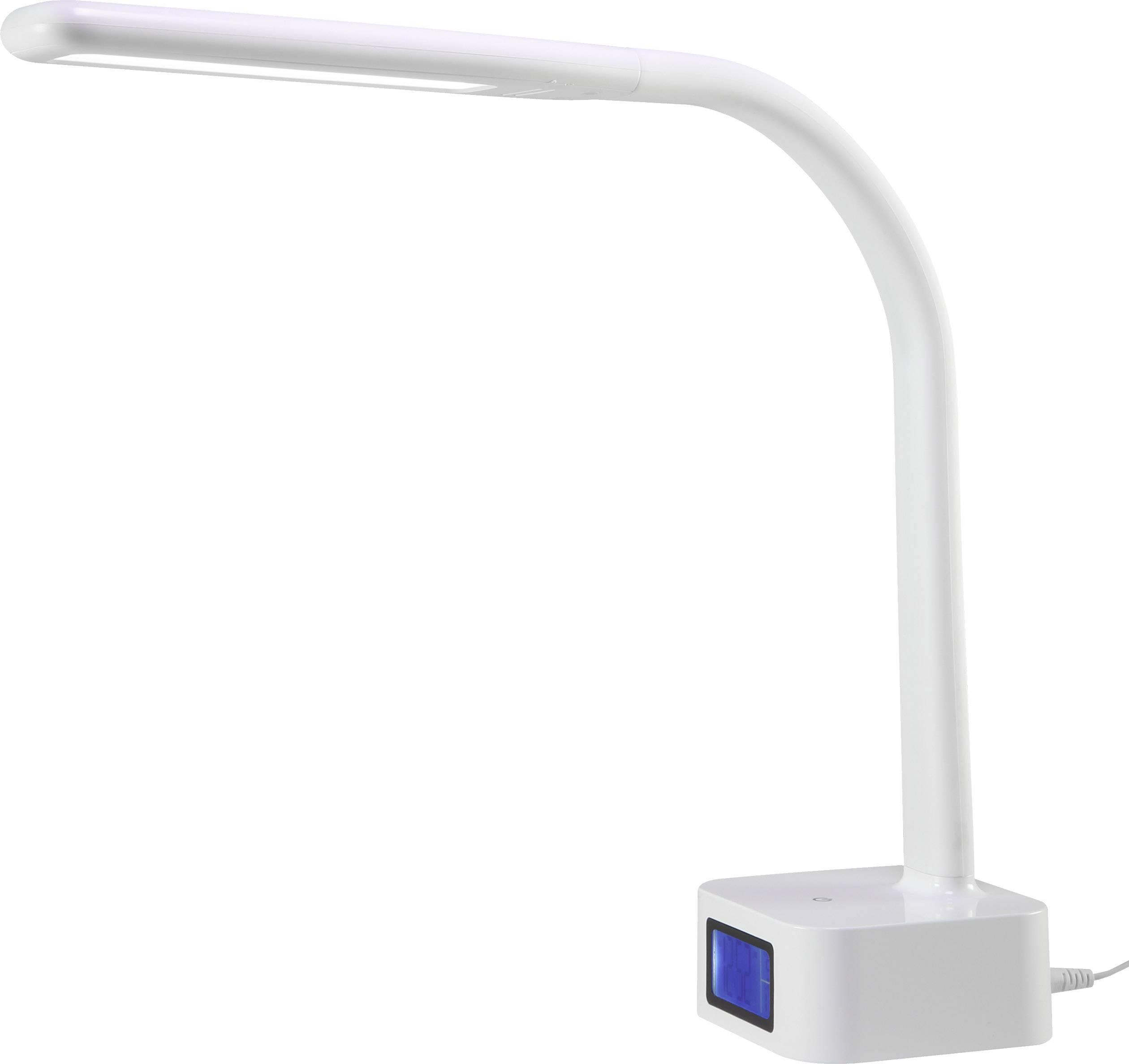LED lampička na psací stůl Polarlite 7 W, studená bílá, bílá