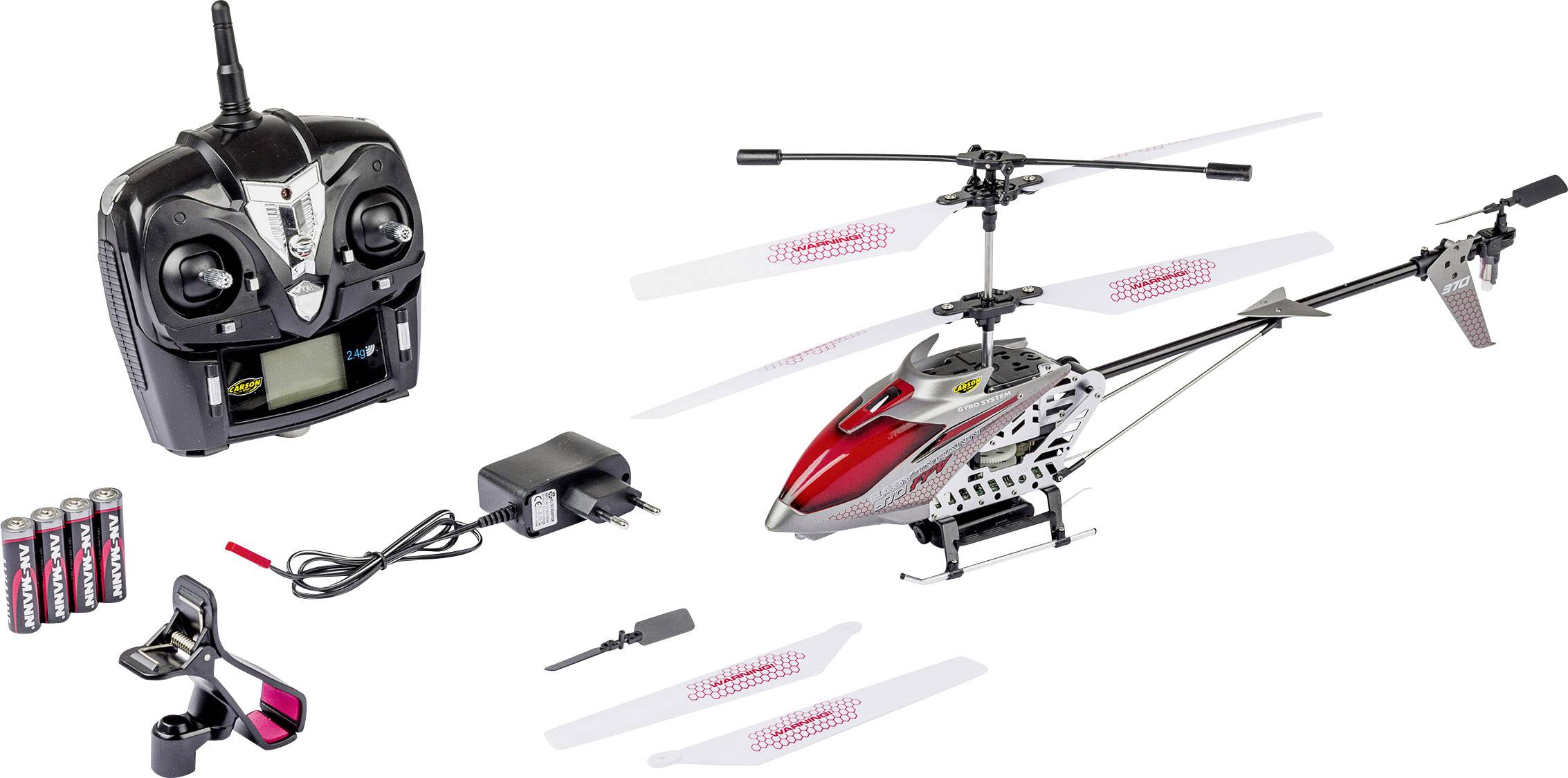 RC model vrtulníku pro začátečníky Carson RC Sport Easy Tyrann 370, RtF