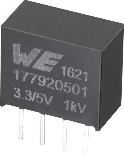 DC/DC měnič napětí do DPS Würth Elektronik 177920501, 3.3 V, 5 V, 0.2 A, 1 W, počet výstupů 1 x