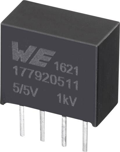 DC/DC měnič napětí do DPS Würth Elektronik 177920511, 5.5 V, 5 V, 0.2 A, 1 W, počet výstupů 1 x