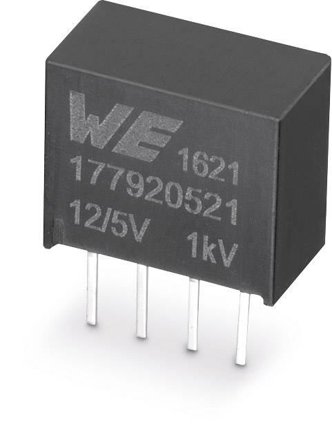 DC/DC měnič napětí do DPS Würth Elektronik 177920521, 12 V, 5 V, 0.2 A, 1 W, počet výstupů 1 x