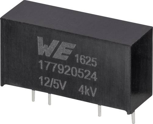 DC / DC menič napätia, DPS Würth Elektronik 177920524, 12 V, 5 V, 0.2 A, 1 W