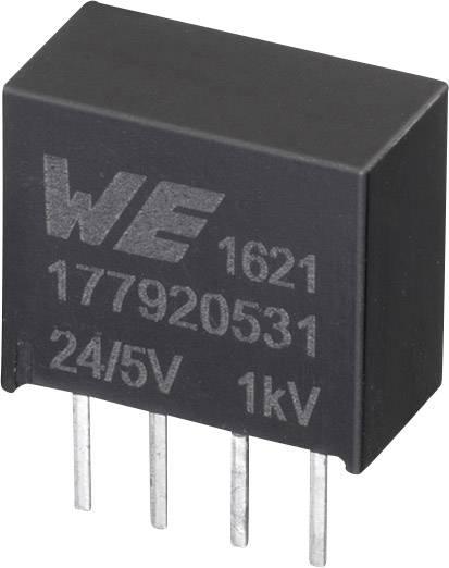 DC/DC měnič napětí do DPS Würth Elektronik 177920531, 24 V, 5 V, 0.2 A, 1 W, počet výstupů 1 x