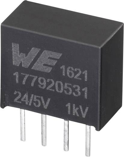 DC / DC menič napätia, DPS Würth Elektronik 177920531, 24 V, 5 V, 0.2 A, 1 W