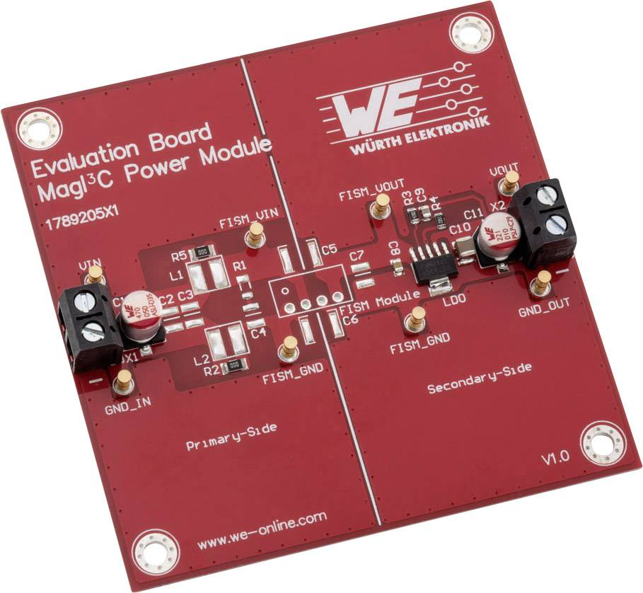 Vyhodnocovací deska Würth Elektronik 1789205X1