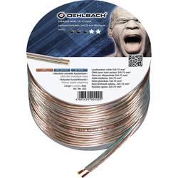 Kábel k reproduktoru Oehlbach 202, 2 x 0.75 mm², priehľadná, 20 m