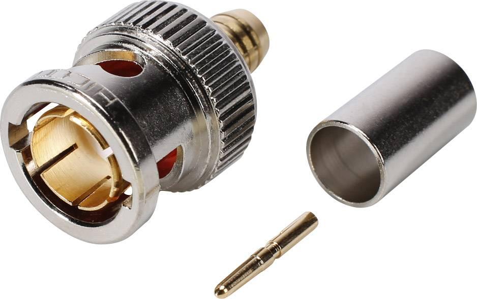 BNC konektor Hicon - zástrčka, rovná, 3.90 mm, 75 Ohm, 1 ks