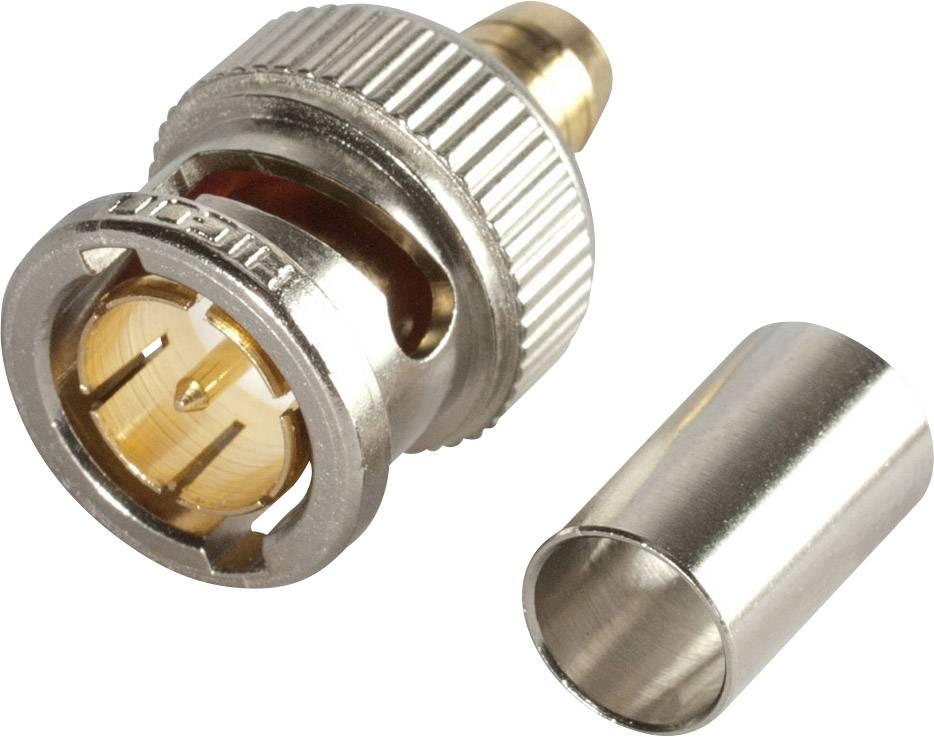 BNC konektor Hicon - zástrčka, rovná, 5 mm, 75 Ohm, 1 ks