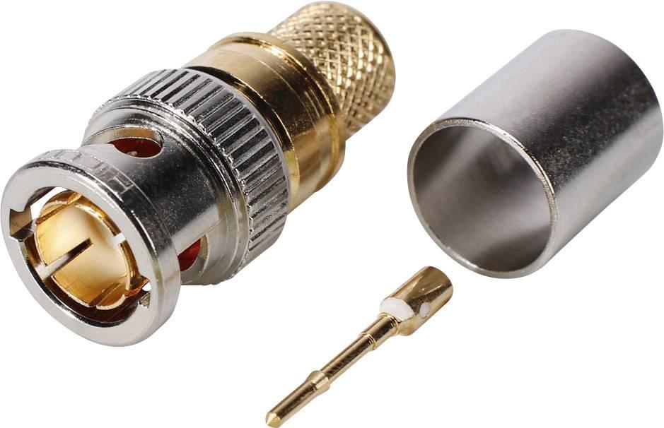 BNC konektor Hicon - zástrčka, rovná, 7.35 mm, 75 Ohm, 1 ks