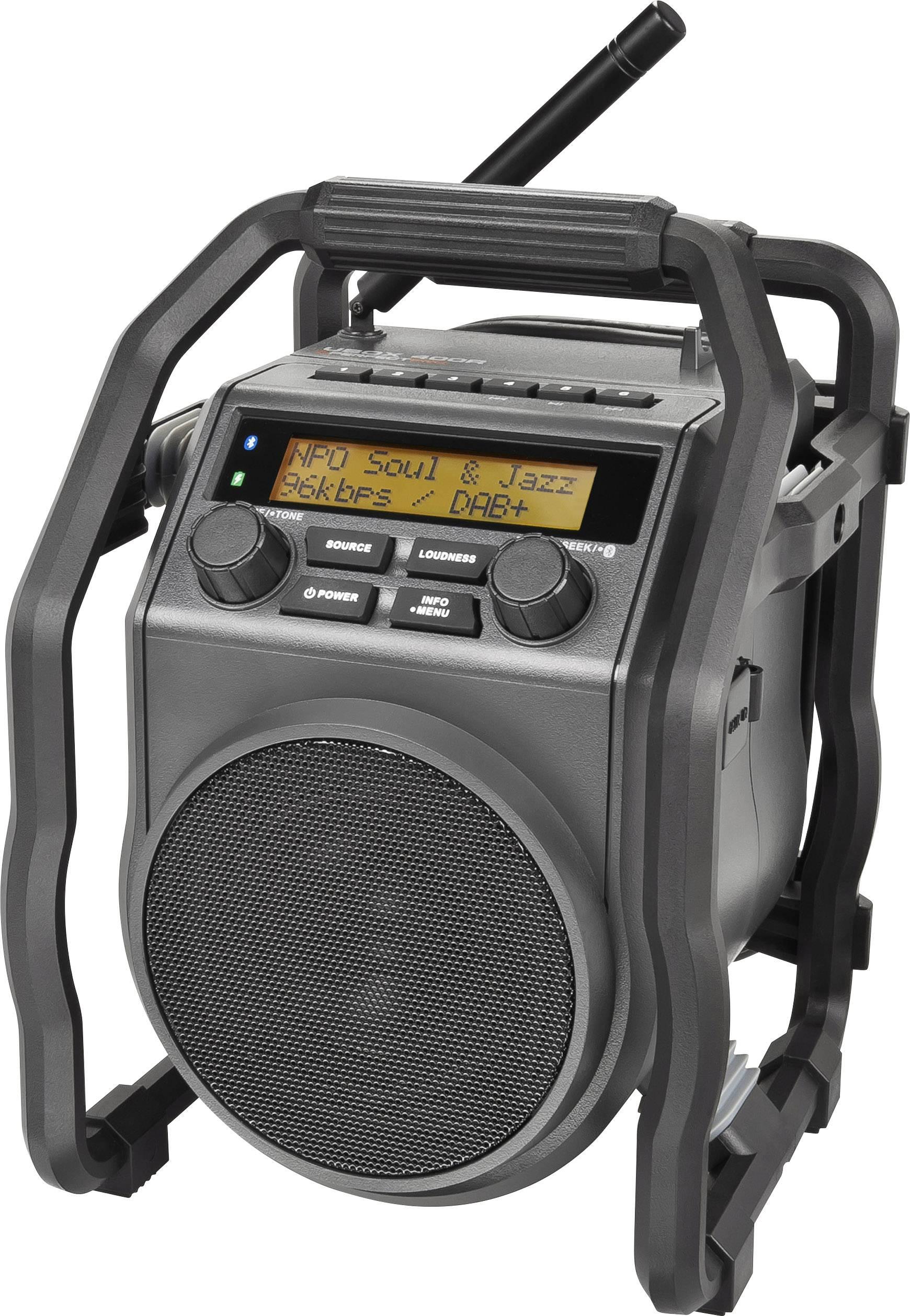DAB+ outdoorové rádio s akumulátorom PerfectPro UBOX 400R, AUX, DAB+, UKW, Bluetooth, čierna