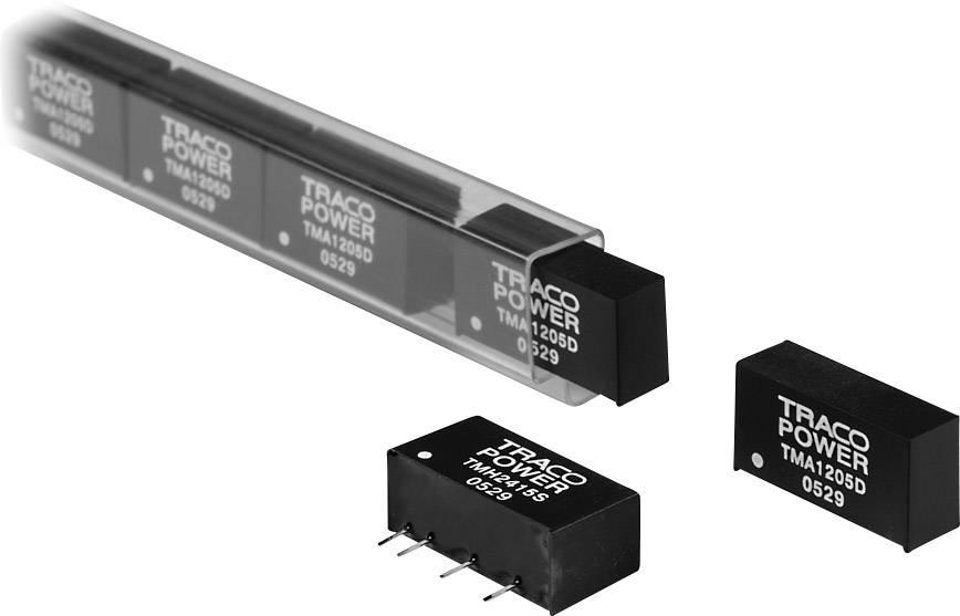 DC/DC měnič TracoPower TMA 0512S, vstup (±10 %) 5 V/DC, výstup 12 V/DC, 80 mA, 1 W