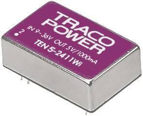 DC/DC měnič TracoPower TEN 5-2422WI, vstup 9 - 36 V/DC, výstup ±12 V/DC, ±250 mA, 5 W