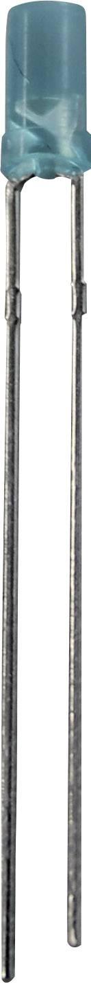 LED dioda s vývody, LP 3405, 30 mA, 3 mm, 3,3 V, 100 °, 100 mcd, modrá