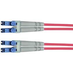 Optické vlákno kabel Telegärtner L00870A0002 [1x zástrčka LC - 1x zástrčka LC], 1 m, žlutá