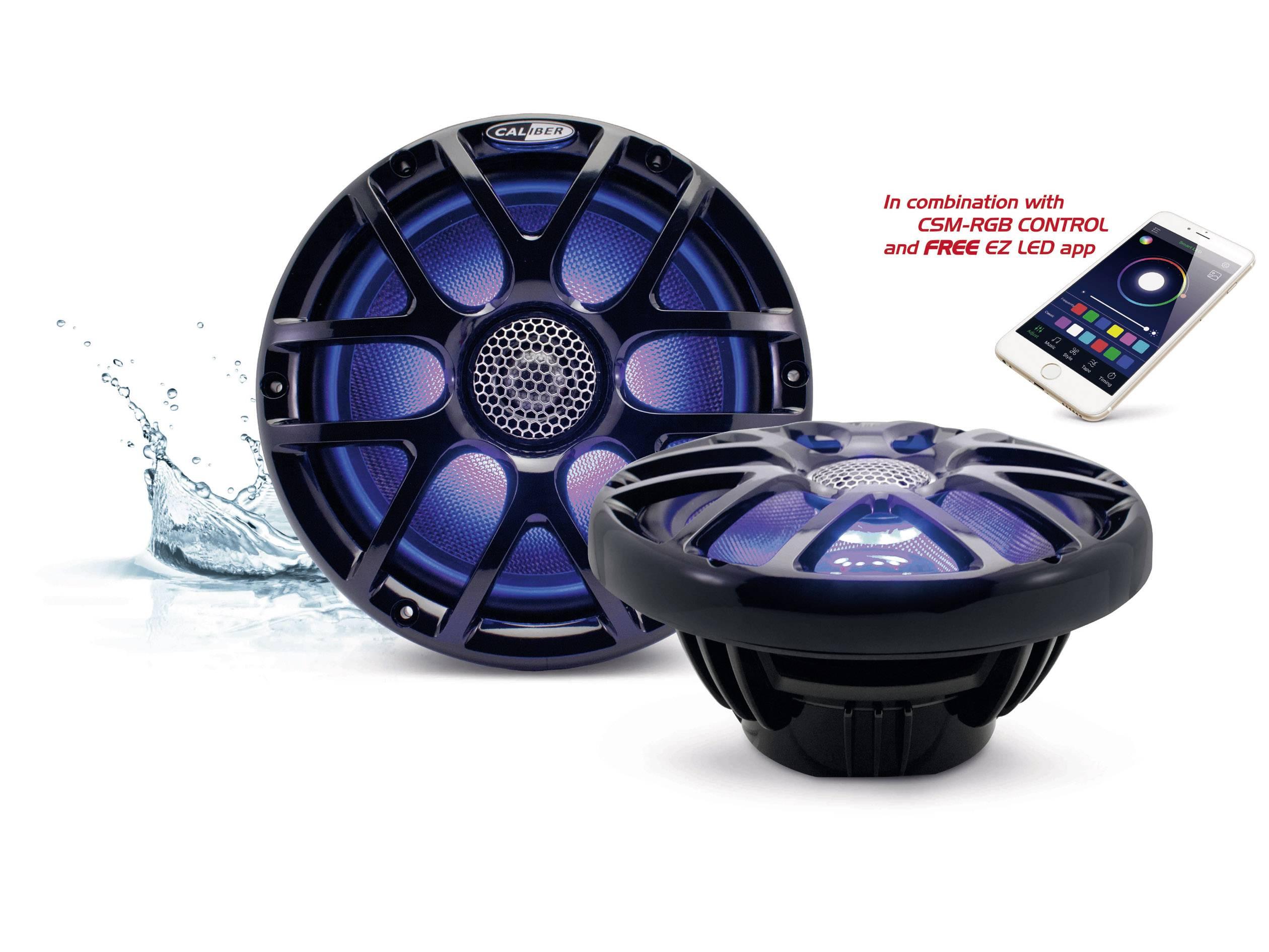 2cestný koaxiální vestavný reproduktor Caliber Audio Technology CSM20RGB/B, 160 W