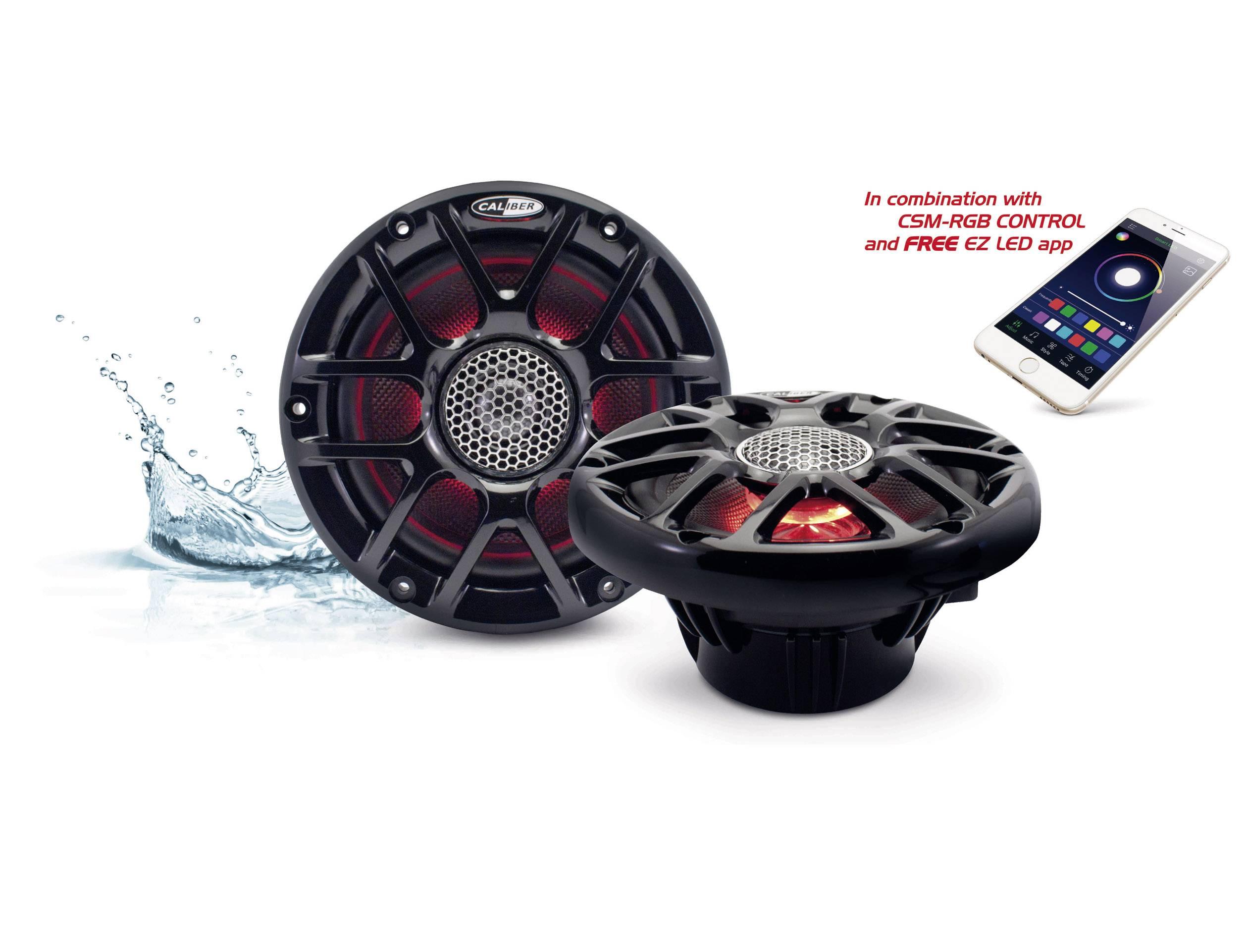 2cestný koaxiální vestavný reproduktor Caliber Audio Technology CSM16RGB/B, 120 W