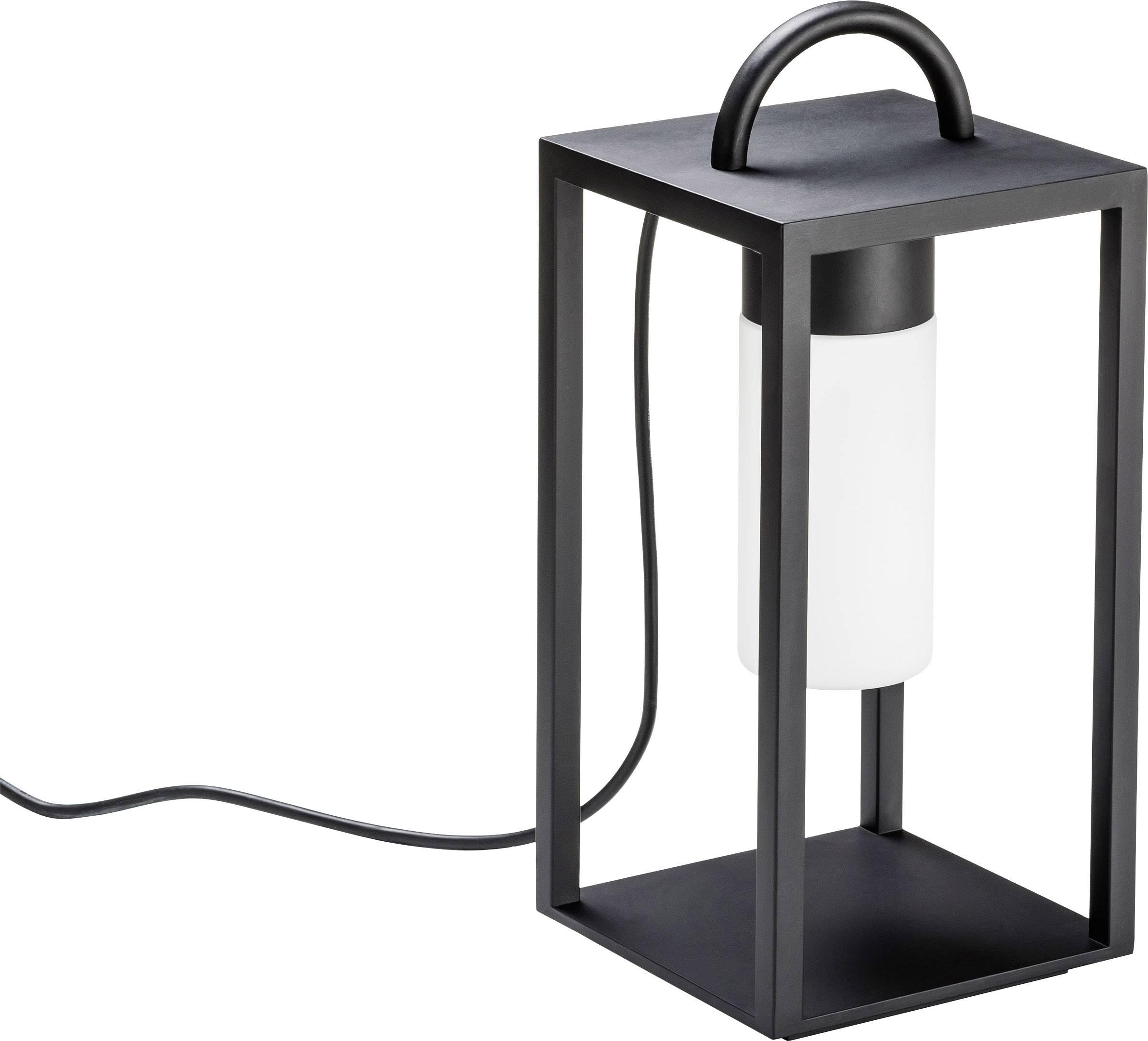 LED LED zahradní svítidlo lucerna Konstsmide Bologna, 7 W, teplá bílá, černá