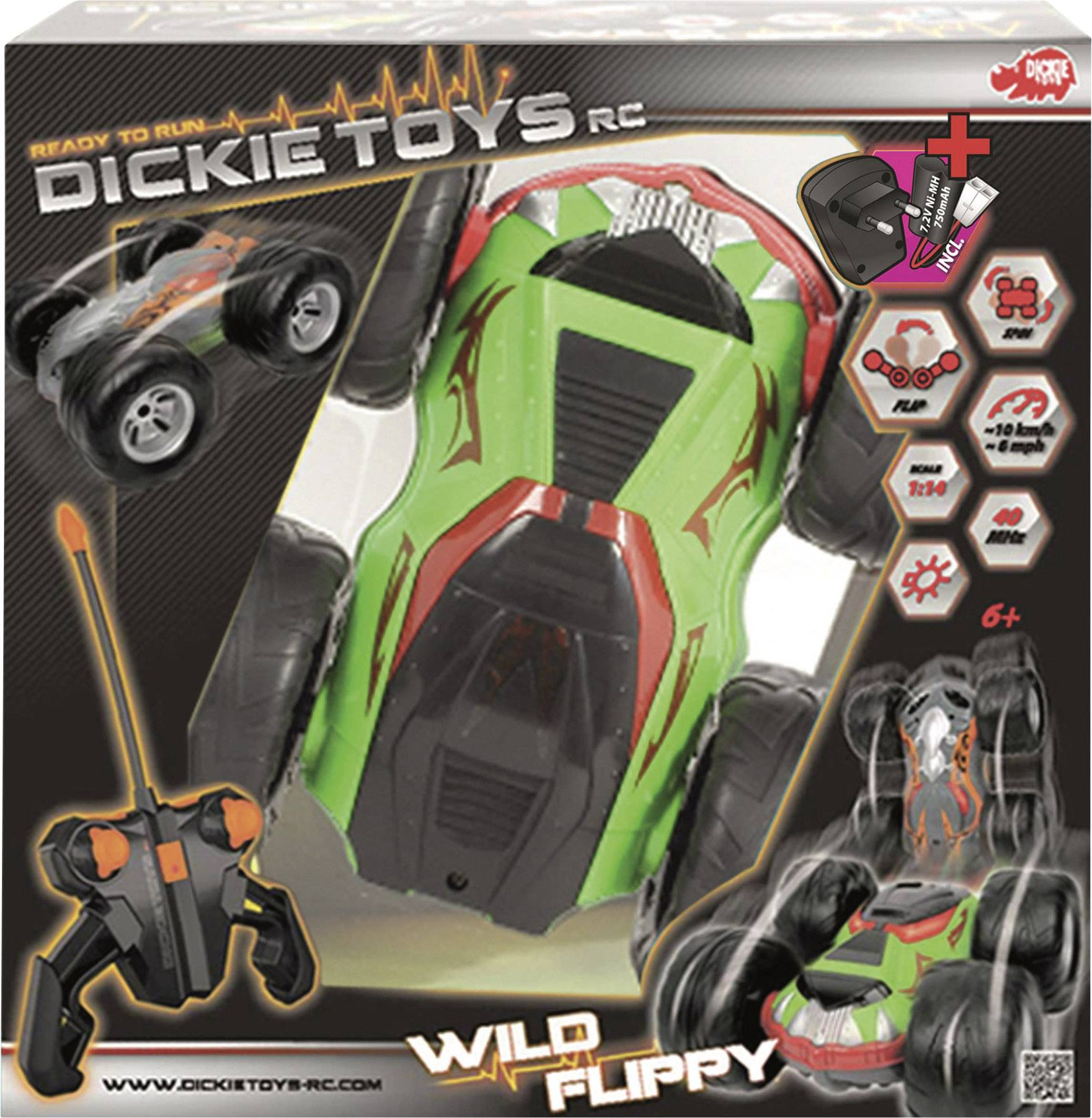 RC model auta – monster truck Dickie Toys Flippy 201119031