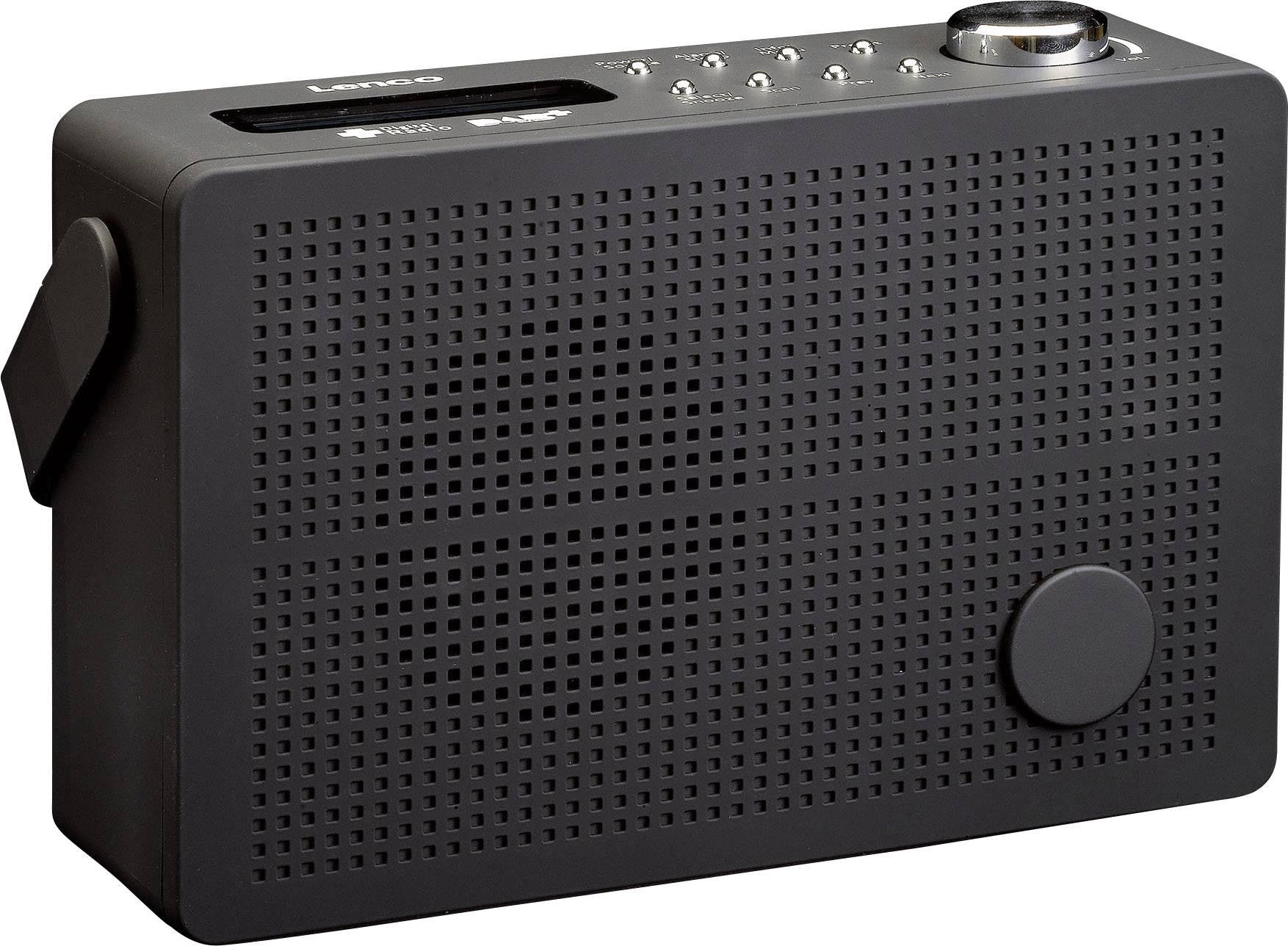 DAB+ stolné rádio Lenco PDR-030, UKW, DAB+, čierna