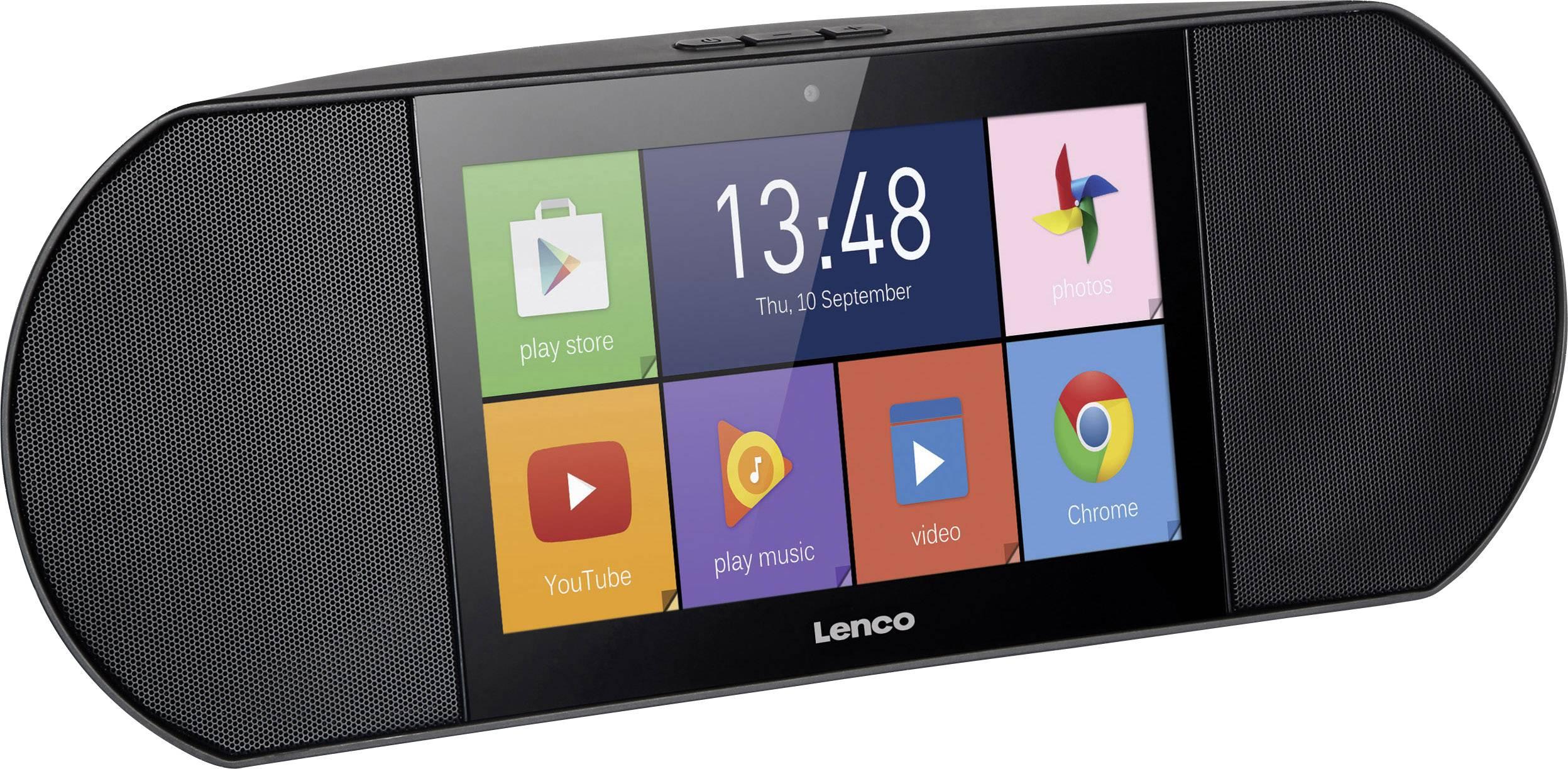 Multimediálne internetové rádio s dotykovým displejom Lenco Diverso-700GY, Wi-Fi, Android, čierna