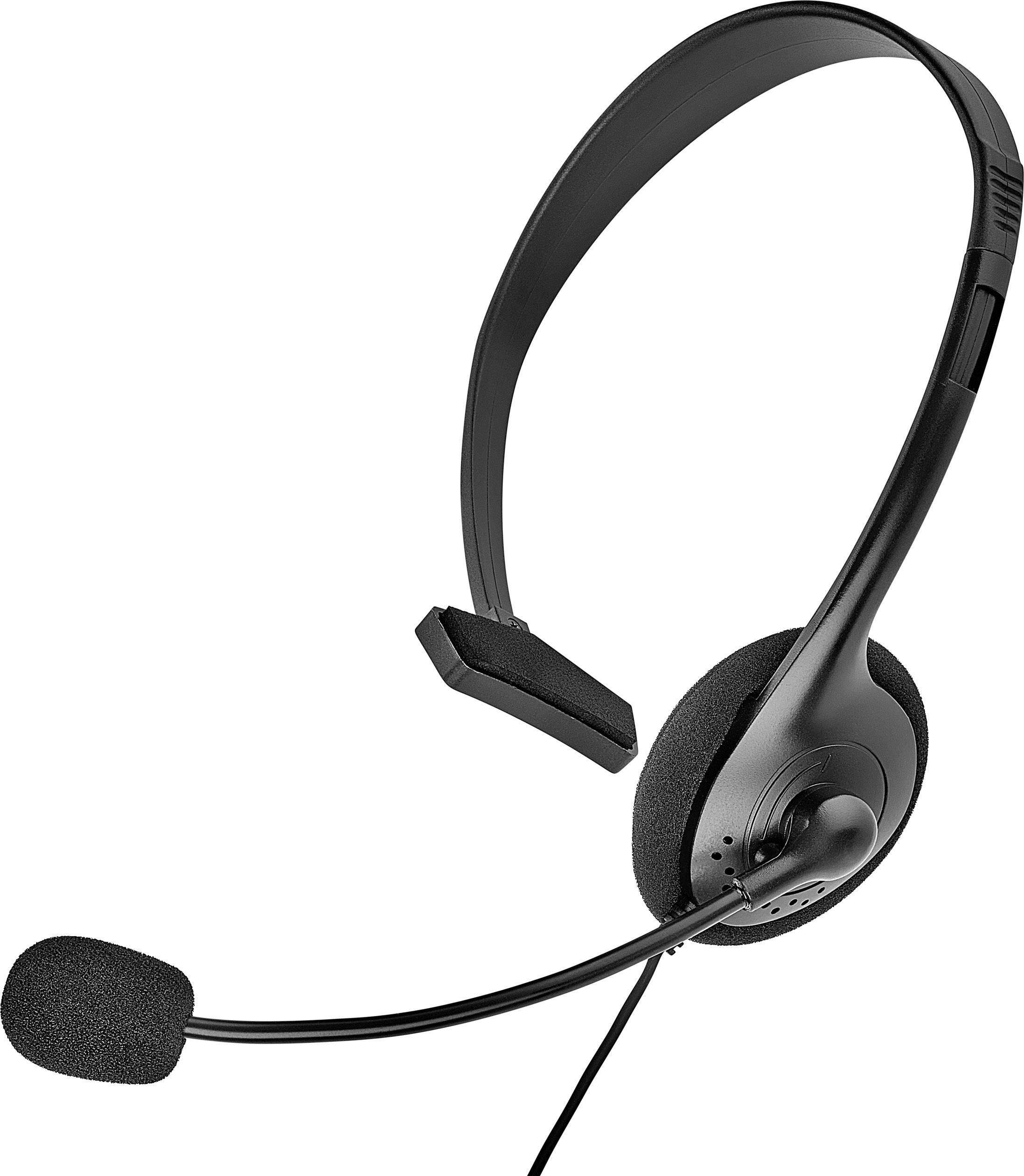 Telefonní headset Renkforce na kabel, mono, černá