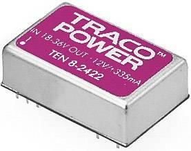 DC/DC měnič TracoPower TEN 8-2422, vstup 18 - 36 V/DC, výstup ±12 V/DC, ±335 mA, 8 W